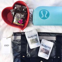 Instagram giveaway of a #heartbowl, BodyOm snacks, lululemon mat, SalbaChia & more!