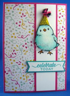 Honeycomb Happiness Party Bird | Discover Ink – Ann Gerlach Independent Stampin' Up!® Demonstrator