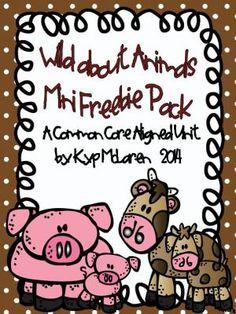 $0-Wild About Animals Mini Freebie Research Packet from Teaching One Moment on TeachersNotebook.com -  (10 pages)  - This a mini packet researching 2 different farm animals!