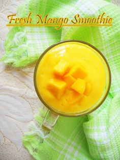 Fresh Mango Smoothie......learn to make chilled creamy fresh mango smoothie. http://www.nisahomey.com/2011/05/mango-milk-shake.html