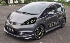 modifikasi honda jazz silver