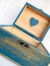 Krabičky - Modré zlato šperkovnica - 4424812_