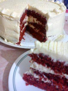 ImagenReceta Sweet Recipes, Cake Recipes, Red Velvet Cheesecake, Red Cake, Cakes And More, Truffles, Vanilla Cake, Buffet, Bakery