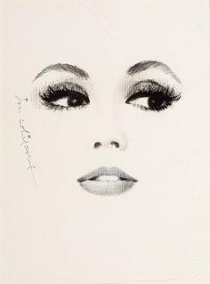 Ikzelf teken vaak gezichten en zoek voor inspiratie vaak plaatjes van getekende gezichten. Dit is er zo eentje van.