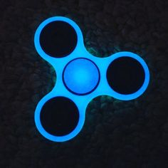 Luminous Glowing Blue Fidget Spinner Spin In The Dark Check Out Our Super