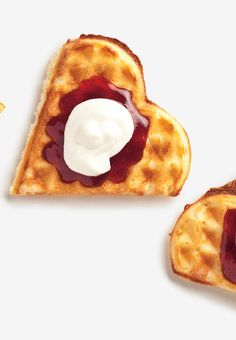 These Norwegian waffles are almost too cute too eat. Almost!