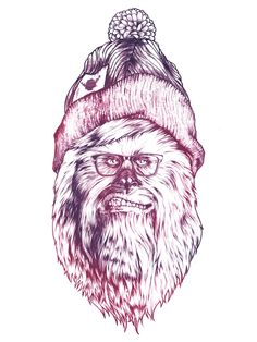 Chewipster by OLLIER Alexandre, via Behance