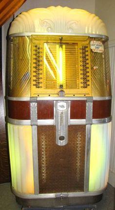 1950's Jukebox. #muisc #jukebox #vintageaudio http://www.pinterest.com/TheHitman14/ghosts-of-audios-past/