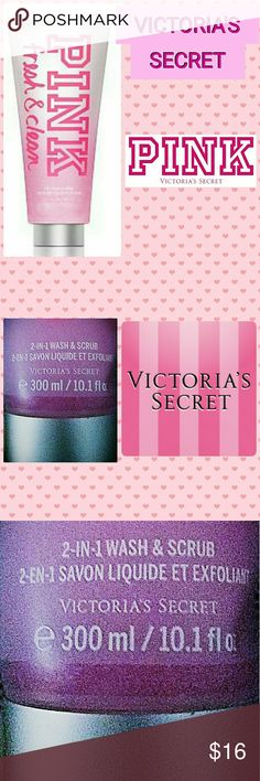 🆕💖💕 Victoria's Secret Face & Body Scrub💖💕 🆕NEW NEVER USED!!🆕💖💖So fresh:This foaming wash-and-scrub makes skin twice as nice, with gentle, skin-polishing microbeads & nourishing vitamins E & C!!*💖💖This body wash is a scrub and wash together* The scrub part of the wash isn't very rough like most. It's scrubs away like it's supposed to but it doesn't leave a rough feeling as if it scrubbed too hard on your skin. It's still leaves your skin nice and soft.Fragrance type: Fresh-Notes…