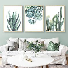 Promo code for off orders online! Office Wall Decor, Office Walls, Wall Art Decor, 3 Canvas Paintings, Cheap Paintings, Watercolor Plants, Watercolor Canvas, Watercolor Paintings, Canvas Home