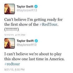 It went so fast.  Whatever the future holds Taylor, Thank you for April 12, 2013. You forever changed my life even MORE that night than you already have. ☺❤ #BURNINGRED  Please come back to FL soon!