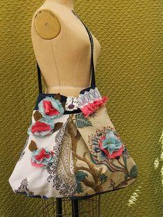 Patchwork Bohemian Purse Gypsy  Bag Carpet Bag large by Bagzgirl, $52.00