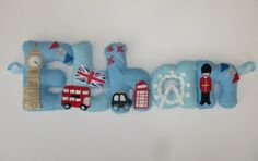 Felt name banner garland in London theme!