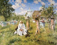 Маковский Александр Владимирович. На пасеке. 1916