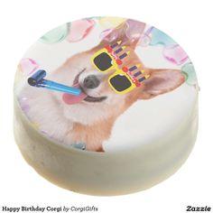 Happy Birthday Corgi Chocolate Dipped Oreo