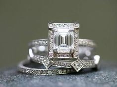 """Love of My Life"" series, engagement rings by Cathy Waterman. (no matter their intended purpose...I'd SO wear these!!)"