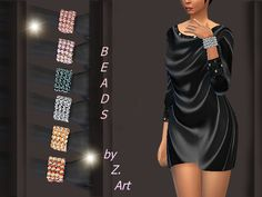 The Sims Resource: Colorful Beads by Zuckerschnute20 • Sims 4 Downloads