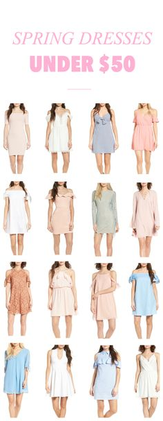 These dresses are stunning! | Fashion blogger Mash Elle shares over 50 affordable spring dresses. Casual dresses, after dresses, off the shoulder dresses, lace dresses, party dresses, special occasion dresses, bodycon dresses, tunic dresses, shift dresses, midi dresses, mini dresses and peplum dresses.