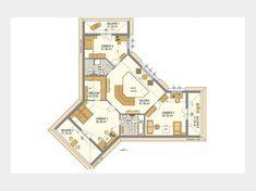 Favorit 416 - Einfamilienhaus von Hanlo Haus - eine Marke der Green Building Deutschland GmbH | HausXXL Bubble Diagram Architecture, Villa, Green Building, Home Decor Kitchen, Planer, House Plans, Bubbles, New Homes, Floor Plans