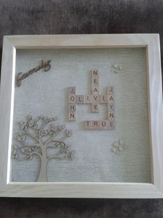 Personalised handmade scrabble art picture 12x12
