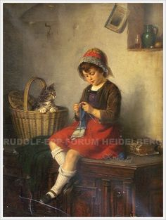 Les scènes de genre du peintre allemand Rudolf Epp (1834-1910) sont peuplées de chats... Voici le bonhomme :  Quand la fonction insérer une photo remarchera...