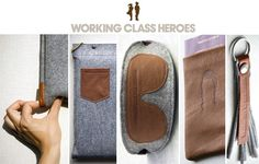 working class heroes. Felt and leather concoctions.