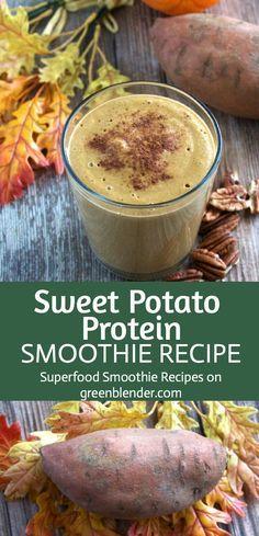 Sweet Potato Protein Smoothie   4 oz sweet potato 1 orange - peeled ½ tsp allspice and cinnamon 1 tbsp pea protein 2 tbsp pecans 1 cup almond milk 1 cup ice