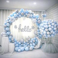 This item is unavailable DIY Balloon Garland Kit // Blue Gray Balloon Arch // Balloon Garland // Reception // Party Celebration Decor // Birthday<br> Deco Baby Shower, Boy Baby Shower Themes, Baby Shower Balloons, Baby Shower Gender Reveal, Shower Party, Baby Shower Parties, Baby Boy Shower, Baby Showers, Baby Boy Balloons