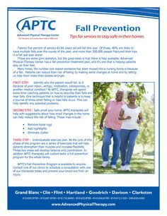 Today is #NationalFallsPreventionAwarenessDay, and we have provided some tips for you or your loved one on how to prevent falls.  Falls can be debilitating and deadly, so awareness on prevention is key.