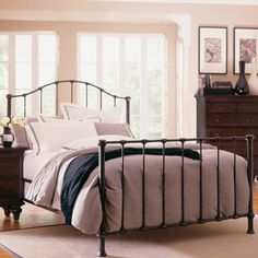 Somerset Garden Bedroom Set in Dark Espresso Kids Bedroom Sets, Bedroom Furniture Sets, Bedroom Decor, Queen Metal Bed, Kincaid Furniture, Garden Bedroom, Master Bedroom Makeover, Grand Homes, Metal Beds