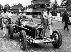 Tazio Nuvolari, Alfa P3, Italian GP, Monza, 1932.    ---- According to wikipedia, Tario drove #8 in 1932, so what year was this race?