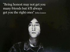 John Lennon about honesty