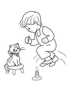 BlueBonkers - Nursery Rhymes Coloring Page Sheets - Little ...