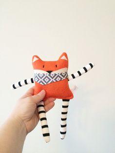Scented Rice-Filled Fox Plush /Felt SmallToy / Fox Stuffed Animal