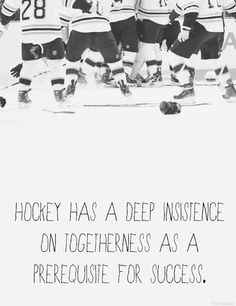 Hockey - Togetherness as a prerequisite for success.