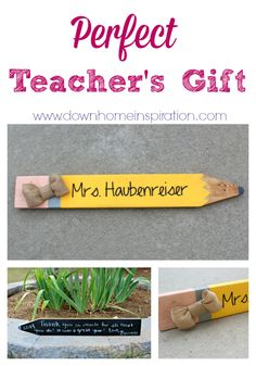 So easy and CHEAP!  Love this idea!  Perfect Teacher's Gift - Down Home Inspiration