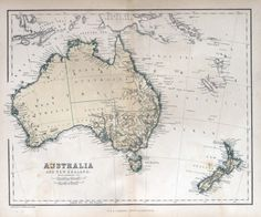 Australia & New Zealand, 1870 Old map - Custom Wallpaper Map Wallpaper, Custom Wallpaper, Vintage Maps, Antique Maps, Map Quiz, Map Of New Zealand, Geography Map, Map Tattoos, India Map