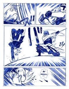 FAN ART: Viñeta Comic de Full Metal Alchemist [Luchando] por CRS | CRS: Mis Dibujos de Anime Manga