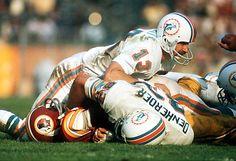 Super Bowl VII - January 14, 1973 @ Memorial Coliseum, Los Angeles, CA. Miami Dolphins 14, Washington Redskins 7. MVP - Jake Scott, Safety, Miami.