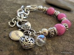 Page........Multi Strand Pink Fossil stone by RockCandyjewellery