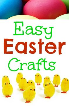 Easy Easter Crafts for children, sticking, painting and crafting fun!