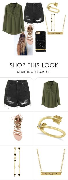 """""""Artemis"""" by internet-adict-777 ❤ liked on Polyvore featuring Topshop, WithChic, Ancient Greek Sandals, Allurez and Tai"""