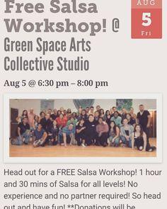 Free salsa workshop w/ @salsawithjo this Friday!  #dentonslacker #salsawithjo #denton #dentontx #dentoning #den10 #dentonite #thedentonite #dentonlocaldentonproud #wedentondoit #wddi #wearedenton #doingitdenton #thisisdenton #unt #twu