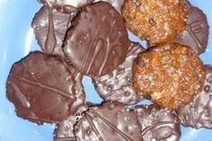 Jak upéct florentinky | recept Czech Recipes, Russian Recipes, Ethnic Recipes, Crinkles, Christmas Cookies, Deserts, Muffin, Food And Drink, Xmas