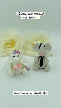Elephant Cake Toppers, Elephant Cakes, Bride And Groom Cake Toppers, Custom Wedding Cake Toppers, Handmade Wedding, Wedding Gifts, Unicorn Wedding, Geek Wedding, Glitter Crafts