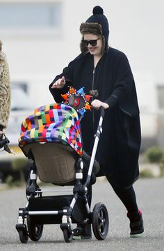 Adele enjoys a stroll with her son #justlikeus