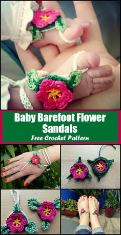 Crochet Barefoot Sandals - 50+ Free Crochet Patterns - Page 5 of 10 - DIY & Crafts  ***** You can use it as a Baby Barefoot Sandal, Adult Barefoot Sandal OR a Slave Bracelet
