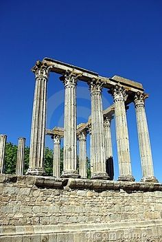 I travel to SEE history...Roman Temple Of Evora, Portugal, over 2,000 years old.