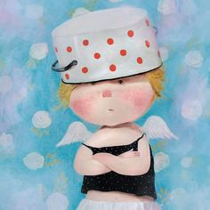 Wearing a cooker to hide my tears... #supplierofhappiness #gapchinska #cute #angel #happiness #artnation
