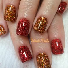Perfect fall time nails. Shidale nails